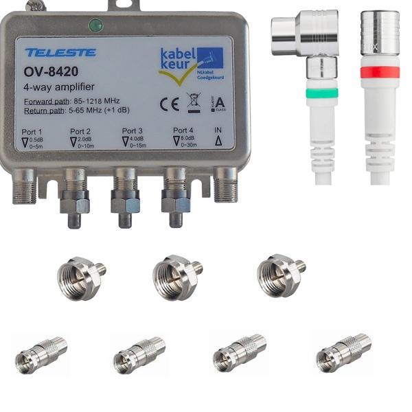Teleste Ov 8420 Antenneversterker Installatiepakket Ziggo Upc Caiway Laagste Prijs 77 50