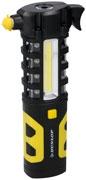 Dunlop auto veiligheidshamer met led werklicht 19,5 cm