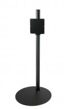 Cavus TV Vloerstandaard 120cm/50mm zwart, Voet 37cm zwart, VESA 200
