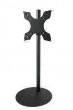 Cavus TV Vloerstandaard 120cm/60mm zwart, Voet 53cm zwart, VESA 400