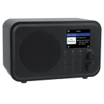 Denver IR-140 WiFi Digital Internet Radio met bluetooth en oplaadbare accu en alarm klok zwart