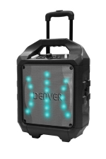 Denver TSP-505MK2 draagbare 50W Trolly speaker box bluetooth met Led lichteffecten