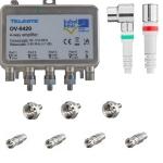 Teleste OV-8420 1218 MHz antenneversterker met installatiepakket