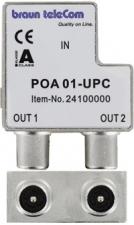 Braun POA1 UPC coax opdruk splitter (2x male out)