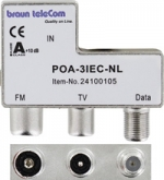 Braun POA3 IEC Radio-TV-Modem data opdruk verdeler