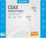 Coaxkabel Technetix Ziggo geschikt Wit kabelkeur 4G/LTE-Proof 3 mtr