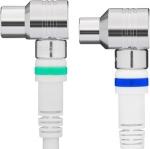Coaxkabel Technetix Ziggo geschikt Wit kabelkeur 4G/LTE-Proof 1.5m