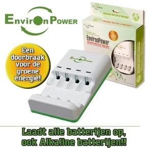 Alkaline weggooi batterijen oplader