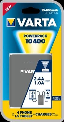 Varta Portable Powerpank Family 10400 mAh met 2x usb