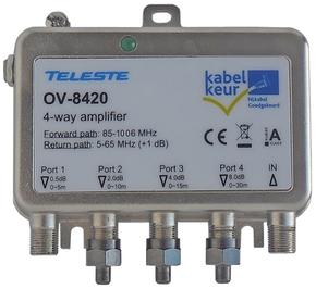Teleste OV-8420 1218 MHz kabelkeur Ziggo geschikt antenneversterker