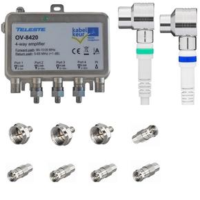 Teleste OV-8420 1218 MHz antenneversterker installatiepakket