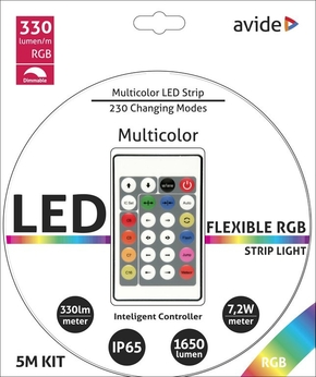 Avide Led Strip RGB 7.2W 1650Lumen met AB IP65 5m